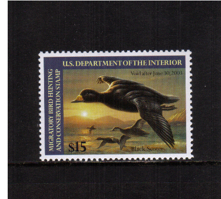 view larger image for Federal Ducks Federal Ducks: SG Number - / Scott Number $15 (2002) - Migratory Bird Hunting and Conservation Stamp<br/>