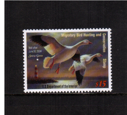 view larger image for Federal Ducks Federal Ducks: SG Number - / Scott Number $15 (2003) - Migratory Bird Hunting and Conservation Stamp<br/>