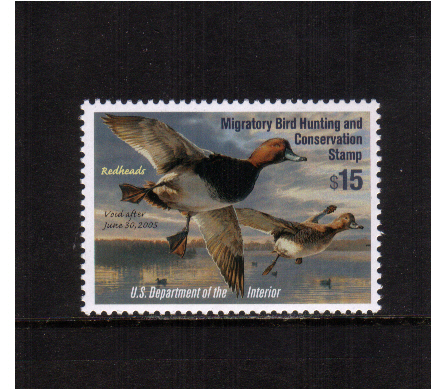 view larger image for Federal Ducks Federal Ducks: SG Number - / Scott Number $15 (2004) - Migratory Bird Hunting and Conservation Stamp<br/>