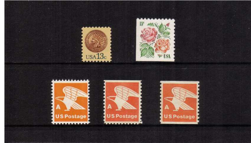 view larger image for  : SG Number 1708-1724 / Scott Number 1734-1743 (1978) - Set of five