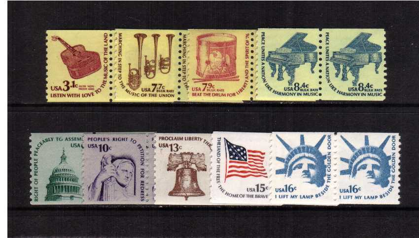 view larger image for  : SG Number 1597b-1605 / Scott Number 1613-1619 (1975) - Set of nine in pairs