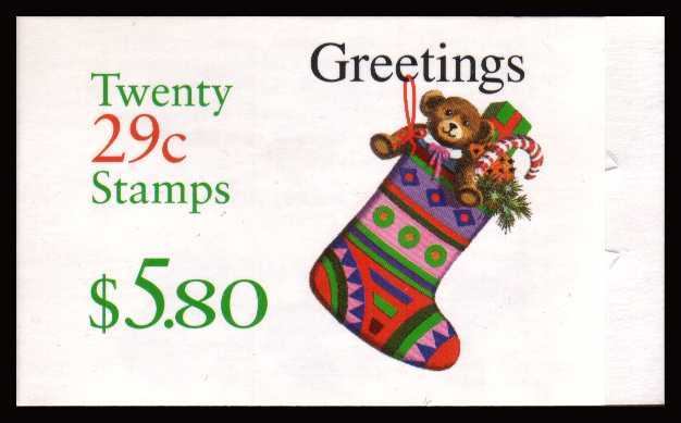 view larger image for Booklets Booklets: SG Number  / Scott Number $5.80 (1994) - Christmas - Stocking