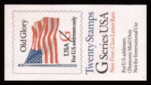 view larger image for Booklets Booklets: SG Number - / Scott Number ($6.40) (1994) - Old Glory Flag<br/>