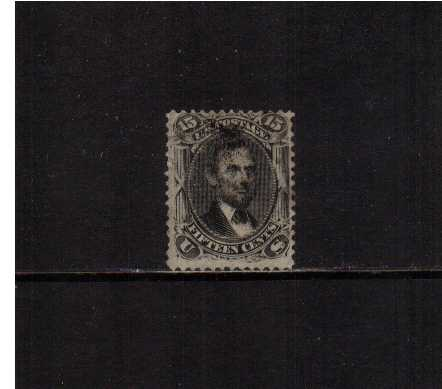 view larger image for Early Issues To 1906 Early Issues To 1906: SG Number  / Scott Number 15c Abraham Lincoln - 'F' Grill - 9x13mm (1868) - A goos sound used stamp with reasonable centering for a grill stamp.