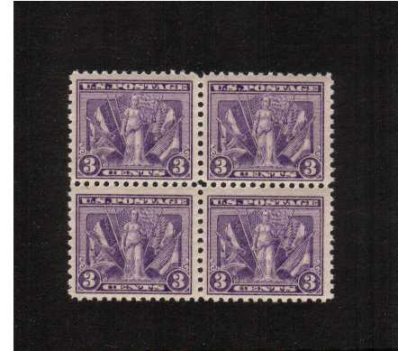view larger image for  : SG Number 546 / Scott Number 537 (1919) - A superb very fresh unmounted mint block of four in a deep, rich shade.