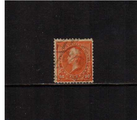 view larger image for  : SG Number 234 / Scott Number 229 (1890) - A good sound used stamp but with a crease