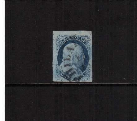 view larger image for The Imperforate Issues The Imperforate Issues: SG Number  / Scott Number 1c - Type II (1851) - A fine used stamp cancelled with a PHILEDELPHIA circular dat stamp with four margins, close at foot but with huge margins on other three sides. Superb!