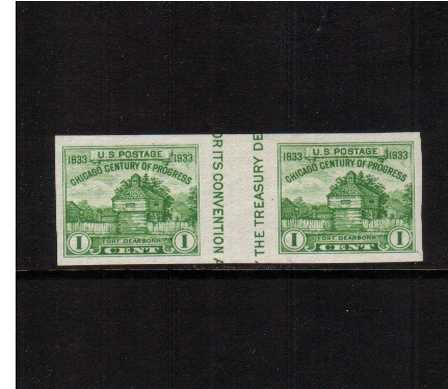 view larger image for Commemoratives 1934-35 National Parks - Early Period Commemoratives: SG Number  / Scott Number 1c (1935) - A superb unmounted mint gutter pair 