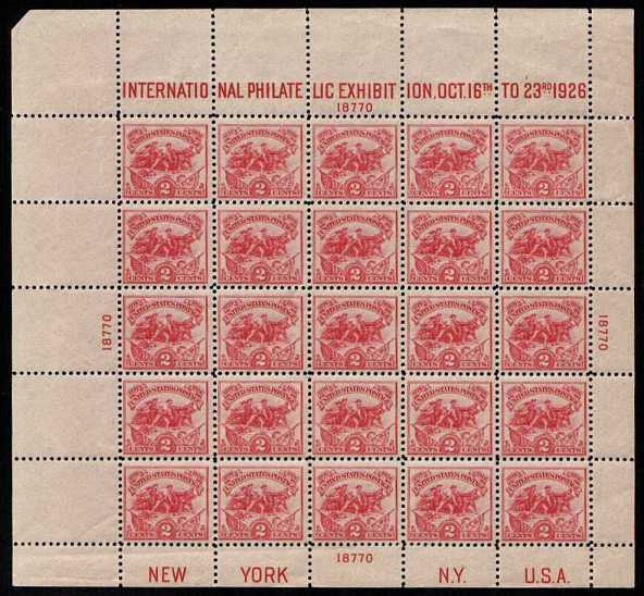 view larger image for  : SG Number MS645 / Scott Number 630 (1926) - A superb unmounted mint sheet