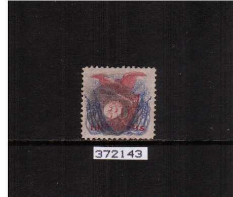 view larger image for Early Issues To 1906 Early Issues To 1906: SG Number 123 / Scott Number 30c Shield, Eagle and Flags - Pictorial Issue (1869) - A superb fine used stamp cancelled with a Cork cancel and with the benefit of a PHILATELIC FOUNDATION certificate