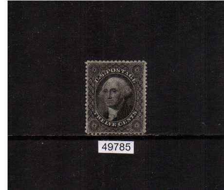 view larger image for Early Issues To 1906 Early Issues To 1906: SG Number  / Scott Number 12c Black - Plate 3 (1859) - a very pretty stamp lightly mounted mint with large part original gum and superb centering with the benefit of s PSE certificate. Very pretty!