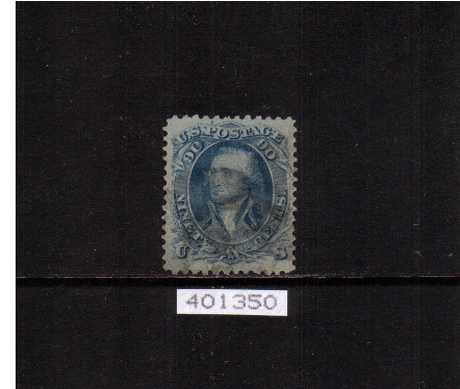 view larger image for  : SG Number 68a / Scott Number 72a (1861) - A superb fine used stamp very lightly cancelled with a very tiny corner crease on SE corner not visible from front with a PHILATELIC FOUNDATION certificate.