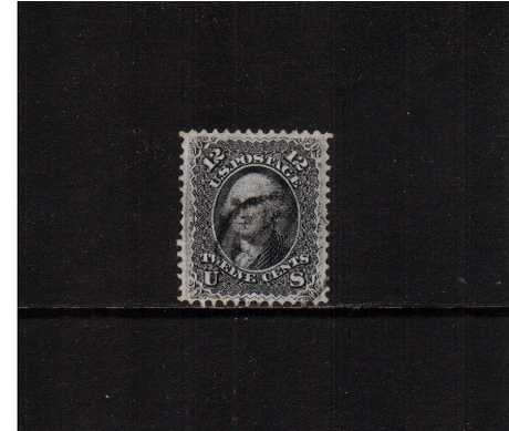 view larger image for Early Issues To 1906 Early Issues To 1906: SG Number  / Scott Number 12c George Washington - 'F' Grill - 9x13mm (1867) - A superb fine used stamp with excellent centering for this issue with the benefit of a PHILATELIC FOUNDATION certificate.