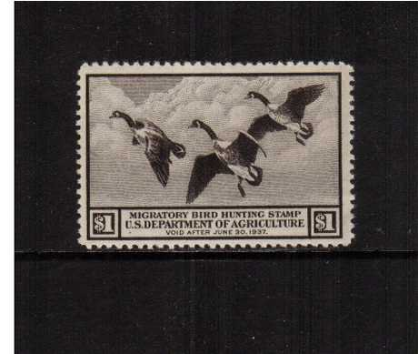 view larger image for Federal Ducks Federal Ducks: SG Number - / Scott Number $1 (1936) - Migratory Bird Hunting and Conservation Stamp<br/>