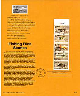 view larger image for Pages Pages: SG Number 2584a / Scott Number 31 May 1991 (1991) - Fishing Flies booklet pane