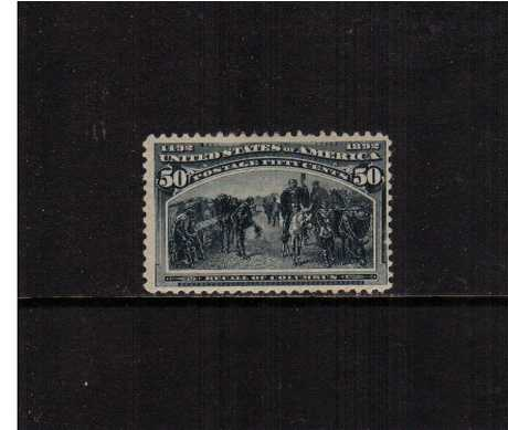 view larger image for Commemoratives 1893 Columbian - Early Period Commemoratives: SG Number 245 / Scott Number 50c 'Recall of Columbus' (1893) - A super lightly mounted mint stamp centered just a little to the right well clear of the perforations, Very fresh!