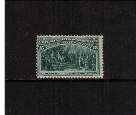 view larger image for Commemoratives 1893 Columbian - Early Period Commemoratives: SG Number 243 / Scott Number 15c - 'Columbus Announcing his Discovery' (1893) - A fresh lightly mounted mint stamp centered to the left.