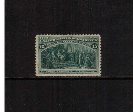 view larger image for Commemoratives 1893 Columbian - Early Period Commemoratives: SG Number 243 / Scott Number 15c - 'Columbus Announcing his Discovery' (1893) - A mounted mint stamp with better than average centering