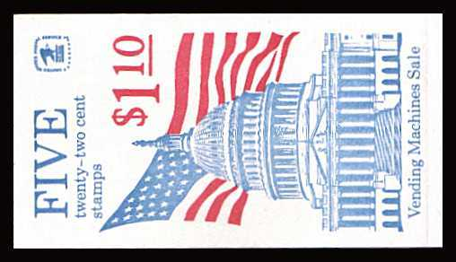 view larger image for Booklets Booklets: SG Number SB118 / Scott Number $1.10 (1985) - Flag Over Capitol 