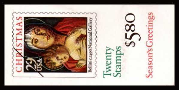 view larger image for Booklets Booklets: SG Number SB167 / Scott Number $5.80 (1992) - Christmas - Madonna and Child