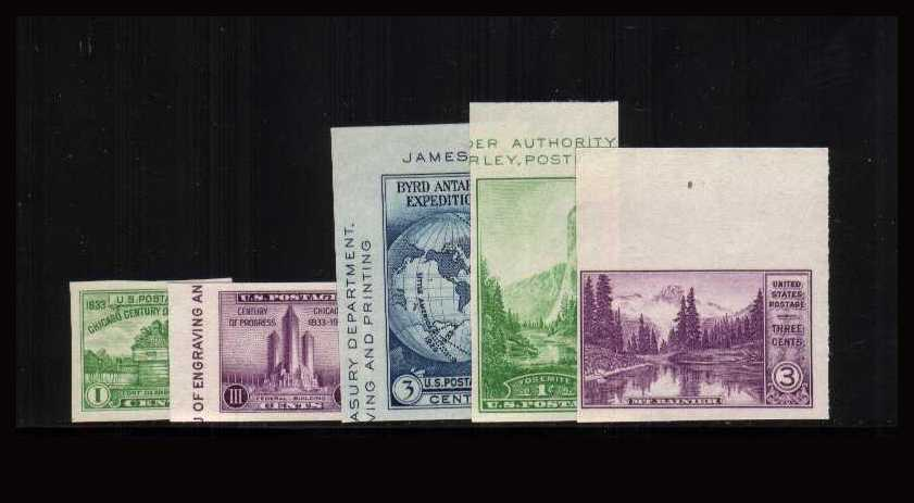 view larger image for  : SG Number  / Scott Number 766a-770a (1935) - Set of 5