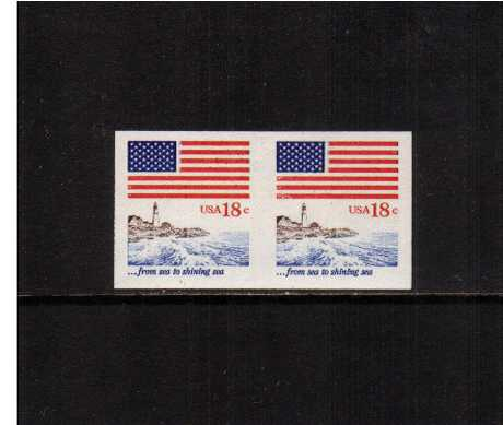 view larger image for  : SG Number 1853a / Scott Number 1891a (1981) - Flag and Lighthouse <br/> 'from sea to shining sea'<br/>