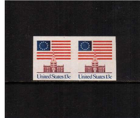 view larger image for  : SG Number 1606ea / Scott Number 1625a (1975) - Flag over Independence Hall<br/>