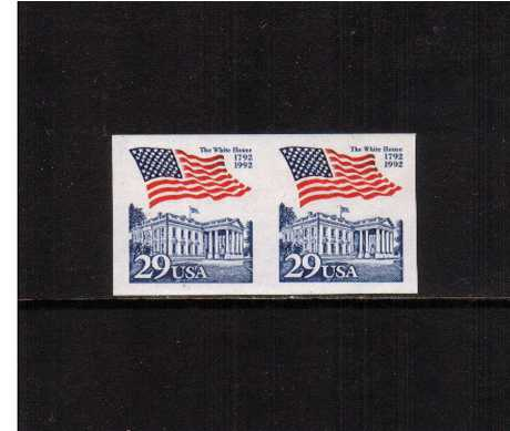 view larger image for  : SG Number 2654a / Scott Number 2609a (1992) - Flag over White House