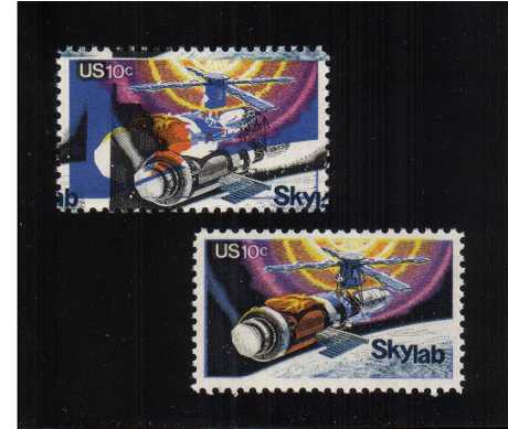 view larger image for Commemoratives 1974 - 1976 - Middle Period Commemoratives: SG Number 1527var / Scott Number 10c Space - Skylab (1974) - An astonshing  superb unmounted mint single with huge multiple colour shifts. A total mess!