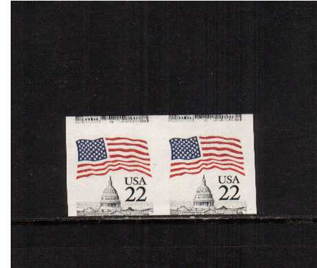 view larger image for  : SG Number 2177a / Scott Number 2115a (1985) - A superb unmounted mint IMPERFORATE coil pair also an upwards miscut.