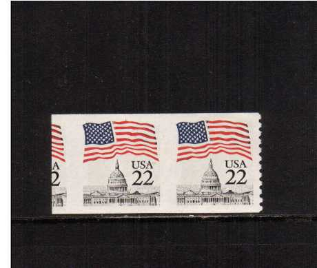 view larger image for  : SG Number 2177a / Scott Number 2115a (1985) - A superb unmounted mint IMPERFORATE coil pair, perforated at right and parts of another stamp at left. A transitional strip.