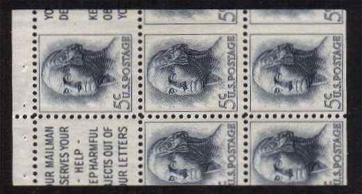 view larger image for  : SG Number 1207avar / Scott Number 1213avar (1962) - Booklet Pane of 5, <br/>