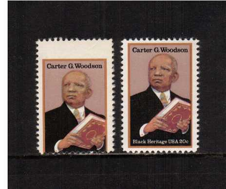view larger image for Commemoratives 1983 - 1987 - Middle Period Commemoratives: SG Number 2070var / Scott Number 20c (1984) - Black Heritage Series - Carter G. Woodson<br/>