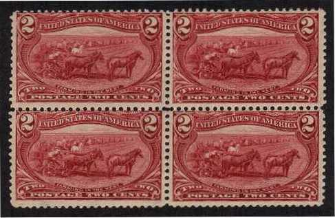 view larger image for  : SG Number 292 / Scott Number 286 (1898) - A superb unmounted mint block of four