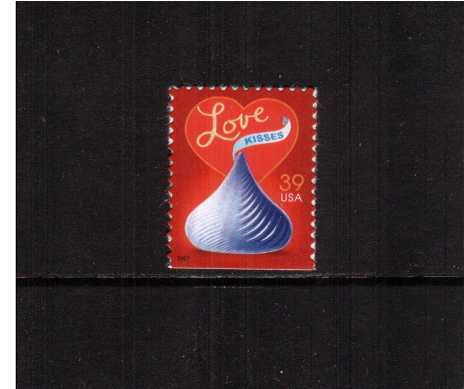 view larger image for Commemoratives 2006 - 2007 - Later Period Commemoratives: SG Number 4684 / Scott Number 39c - 13 January 2007 (2007) - LOVE - Hershey's Kisses Chocolate<br/>