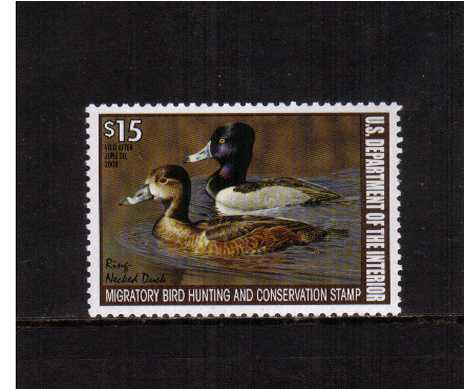 view larger image for Federal Ducks Federal Ducks: SG Number  / Scott Number $15 (2007) - Migratory Bird Hunting and Conservation Stamp<br/>