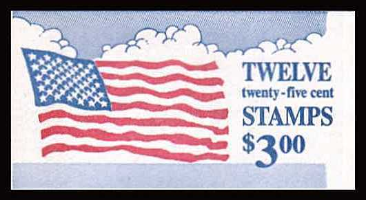 view larger image for Booklets Booklets: SG Number SB134 / Scott Number $3 (1988) - 'Flag and Clouds'