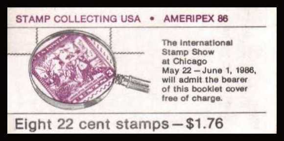 view larger image for Booklets Booklets: SG Number SB122 / Scott Number $1.76 (1986) - 'AMERIPEX' Stamp Exhibition