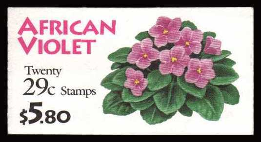 view larger image for Booklets Booklets: SG Number SB178 / Scott Number $5.80 (1993) - African Violets<br/><br/>