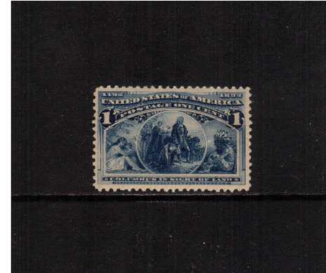 view larger image for Commemoratives 1893 Columbian - Early Period Commemoratives: SG Number 235 / Scott Number 1c - 'Columbus in sight of land' (1893) - A superb unmounted mint single with reasonable centering.