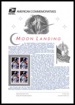 view larger image for  : SG Number 2922v / Scott Number 2841a (1994) - Moon Landing<br/><br/>
