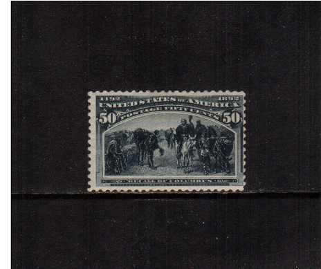 view larger image for Commemoratives 1893 Columbian - Early Period Commemoratives: SG Number 245 / Scott Number 50c 'Recall of Columbus' (1893) - A lightly mounted mint stamp centered to the right just touching the perforation.