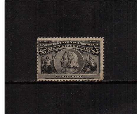 view larger image for  : SG Number 250 / Scott Number 245 (1893) - A sound stamp with some sweated gum centered low and to the left with a few gum stains on the perforations.