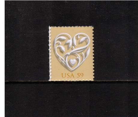 view larger image for  : SG Number 4860 / Scott Number 4272 (2008) - 'Wedding Hearts'<br/>
