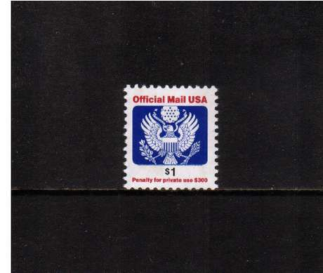 view larger image for The Back Of The Book Issues Modern Officials: SG Number O4660 / Scott Number $1 (2006) - Eagle sheet stamp