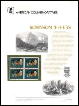 view larger image for Commemorative Panels Commemorative Panels: SG Number 1486 / Scott Number Panel Number 19 (1973) - American Arts - Robinson Jeffers