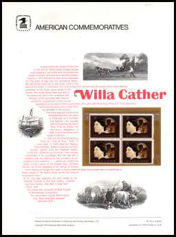 view larger image for Commemorative Panels Commemorative Panels: SG Number 1488 / Scott Number Panel Number 22 (1973) - American Arts - Willa Cather