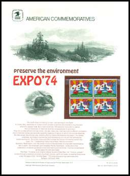 view larger image for Commemorative Panels Commemorative Panels: SG Number 1525 / Scott Number Panel Number 29 (1974) - EXPO '74