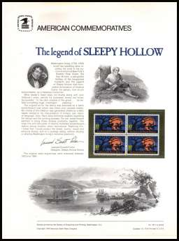 view larger image for Commemorative Panels Commemorative Panels: SG Number 1546 / Scott Number Panel Number 39 (1974) - Sleepy Hollow