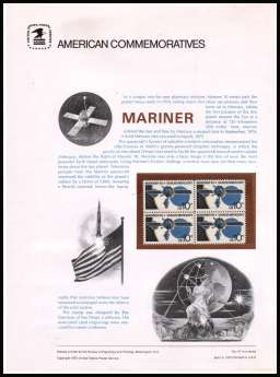 view larger image for  : SG Number 1553 / Scott Number 1557 (1975) - Space - Mariner 10